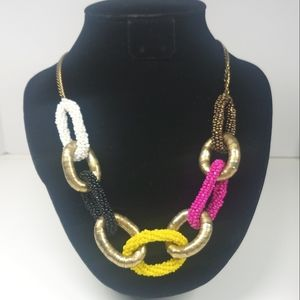 Flexible Long Beaded Multicolored Necklace